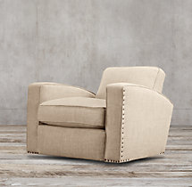 Library Upholstered Swivel Chair