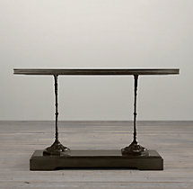 "54"" 19th C. French Zinc and Cast Iron Console"