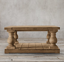 Balustrade Salvaged Wood Coffee Table Square