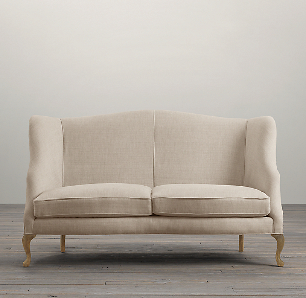 Belgian High-Back Settee