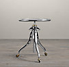 "1930s 24"" Caliper Side Table Aluminum (Set of 2)"