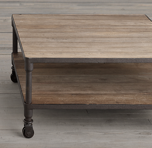 "Dutch Industrial 34"" Square Coffee Table"