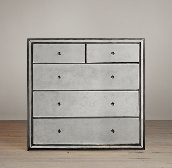 Strand Mirrored 5-Drawer Dresser
