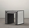 Strand Mirrored Nesting Side Tables