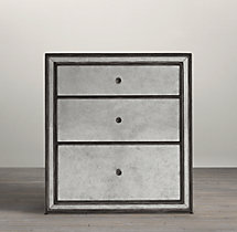 Strand Mirrored Closed Nightstand