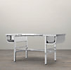 "60"" French Factory Metal Desk Polished Chrome"