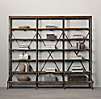 "108"" French Library Shelving Natural Antiqued Iron"