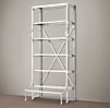 "42"" French Library Shelving Polished Stainless Steel"