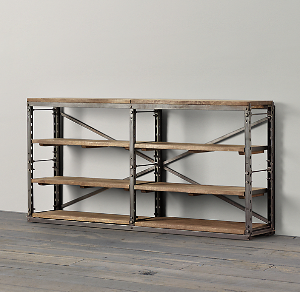 French Library Console - Natural Antiqued Iron