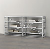 French Library Console - Polished Stainless Steel