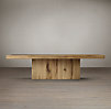 "55"" Reclaimed Russian Oak Plinth Coffee Table"