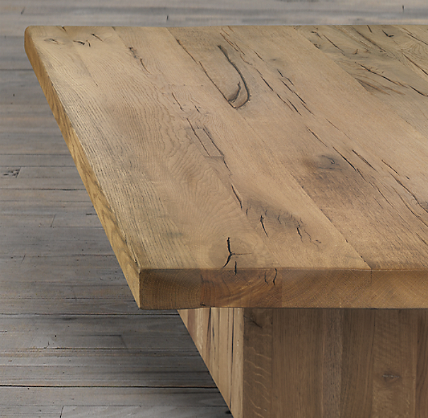 Reclaimed Russian Oak Plinth Coffee Tables
