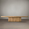 "68"" Reclaimed Russian Oak Plinth Coffee Table"