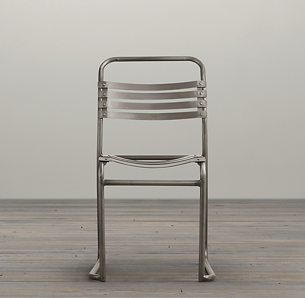 1930s Belgian Stacking Metal Chair