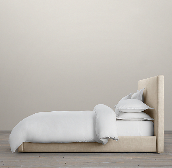 Restoration Hardware King Upholstered Bed