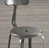 French T Back Barstool Matte Grey