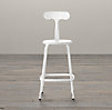 French T Back Counter Stool White