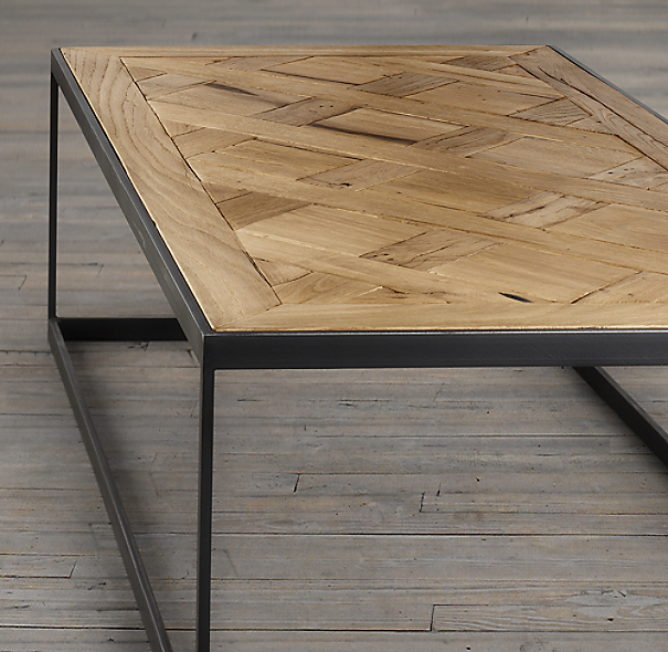 Reclaimed Russian Oak Parquet Coffee Table
