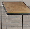 Reclaimed Oak Parquet Side Tables (Set of 2)