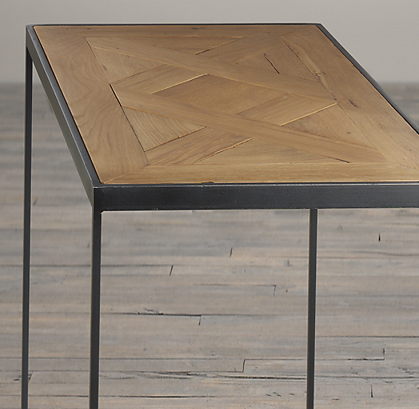 Reclaimed Oak Parquet Side Tables
