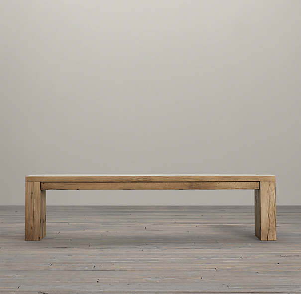 "70"" Parsons Reclaimed Russian Oak Bench"