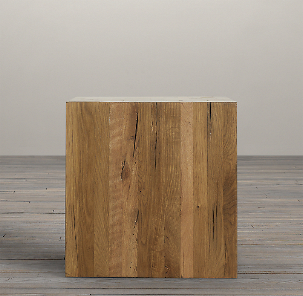 Parsons Reclaimed Russian Oak Cube (Set of 2)