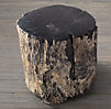 Petrified Wood Side Table Dark (Set of 2)