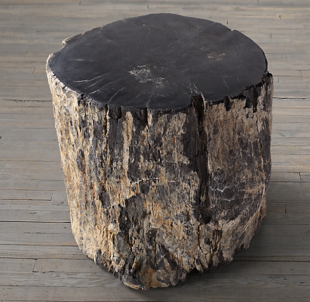 Petrified Wood Side Table Dark