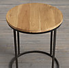 "19"" Watts Reclaimed Oak Round Side Table (Set of 2)"