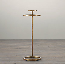 "10"" Martini Side Table Antique Brass"