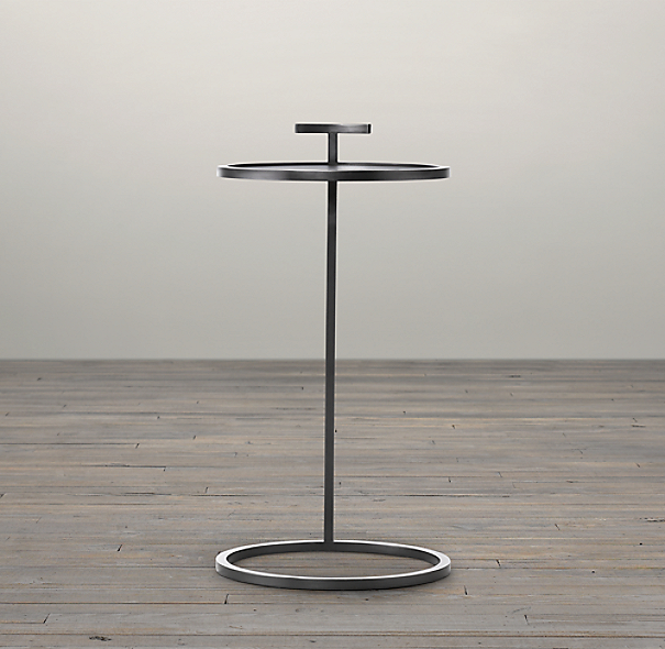 "14"" Martini Side Table Bronze"