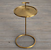 "14"" Martini Side Table Antique Brass"