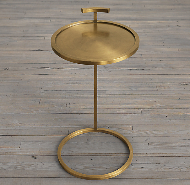 "14"" Martini Side Table Antique Brass (Set of 2)"