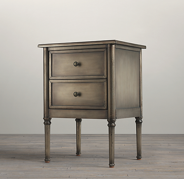 "20"" Spencer Metal Closed Nightstand (Set of 2)"