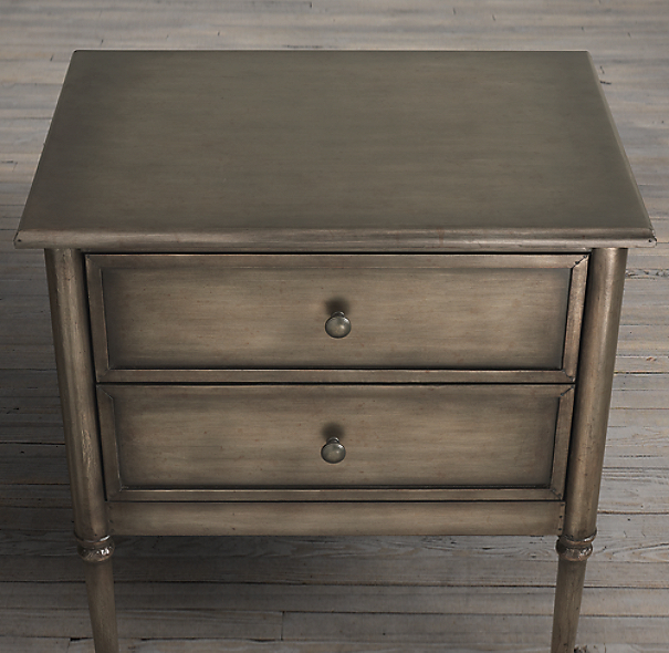 "26"" Spencer Metal Closed Nightstand (Set of 2)"