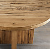 Reclaimed Russian Oak Plank Round Dining Table