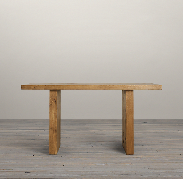 "Reclaimed Russian Oak Plank 60"" Rectangle Dining Table"
