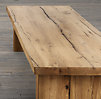 Reclaimed Russian Oak Plank Coffee Table