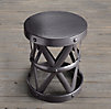 Spanish Colonial Drum Table Bronze