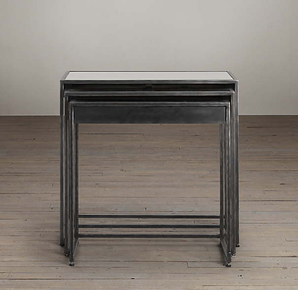 Gramercy Mirrored Nesting Side Tables