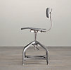 Vintage Toledo Dining Chair Grey Enamel
