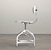 Vintage Toledo Dining Chair White Enamel