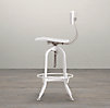 Vintage Toledo Bar Chair White Enamel
