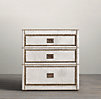 Marseilles Parchment Closed Nightstand (Set of 2)