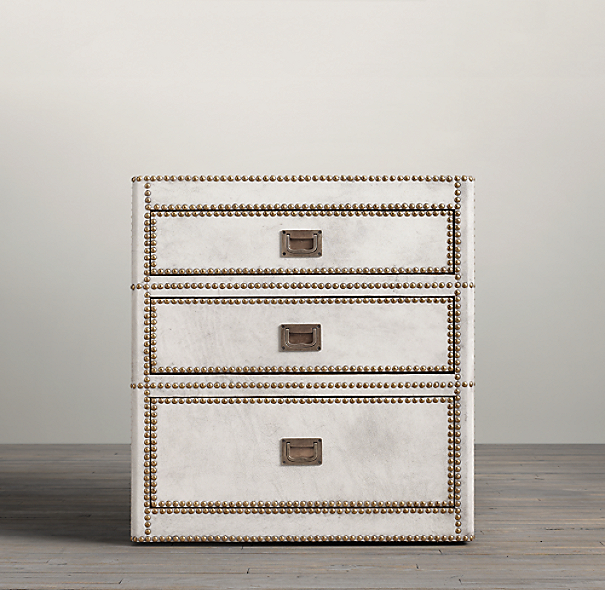Marseilles Parchment Nightstand (1 Open and 1 Closed)