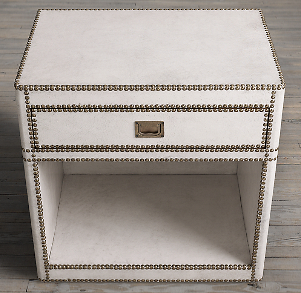 Marseilles Parchment Open Nightstand (Set of 2)