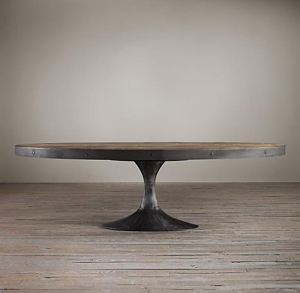 Oval Pedestal Coffee Table: Aero Oval Coffee Table