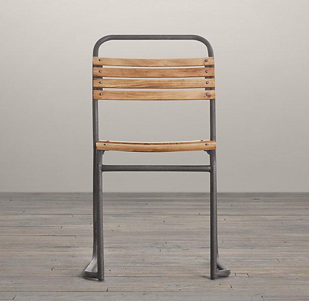 1930s Belgian Stacking Wood Chair