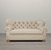 7' Churchill Upholstered Sofa with Nailheads