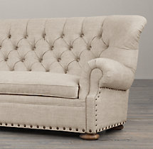 8' Churchill Upholstered Sofa with Nailheads